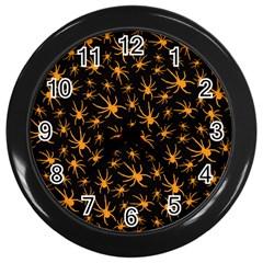 Halloween Spiders Wall Clocks (black)