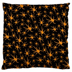 Halloween Spiders Large Cushion Case (two Sides)