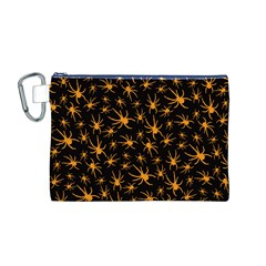 Halloween Spiders Canvas Cosmetic Bag (m)