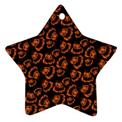 Pattern Halloween Jackolantern Ornament (star)