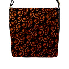 Pattern Halloween Jackolantern Flap Messenger Bag (l)
