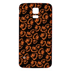 Pattern Halloween Jackolantern Samsung Galaxy S5 Back Case (white)