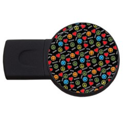 Pattern Halloween Peacelovevampires  Icreate Usb Flash Drive Round (4 Gb)