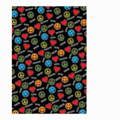 Pattern Halloween Peacelovevampires  Icreate Small Garden Flag (two Sides)