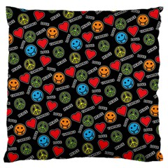 Pattern Halloween Peacelovevampires  Icreate Large Cushion Case (one Side)