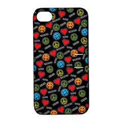 Pattern Halloween Peacelovevampires  Icreate Apple Iphone 4/4s Hardshell Case With Stand