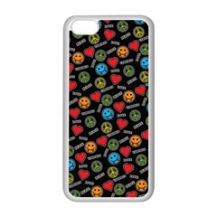 Pattern Halloween Peacelovevampires  Icreate Apple Iphone 5c Seamless Case (white)