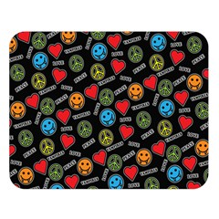 Pattern Halloween Peacelovevampires  Icreate Double Sided Flano Blanket (large)