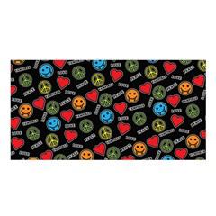 Pattern Halloween Peacelovevampires  Icreate Satin Shawl