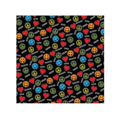 Pattern Halloween Peacelovevampires  Icreate Small Satin Scarf (square)