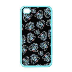 Pattern Halloween Zombies Brains Apple Iphone 4 Case (color)