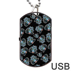 Pattern Halloween Zombies Brains Dog Tag Usb Flash (one Side)