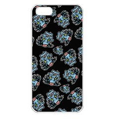 Pattern Halloween Zombies Brains Apple Iphone 5 Seamless Case (white)