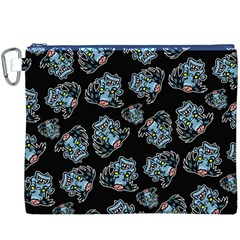 Pattern Halloween Zombies Brains Canvas Cosmetic Bag (xxxl)