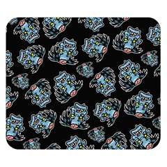 Pattern Halloween Zombies Brains Double Sided Flano Blanket (small)