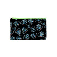Pattern Halloween Zombies Brains Cosmetic Bag (xs)