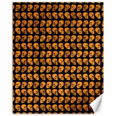Halloween Color Skull Heads Canvas 11  X 14