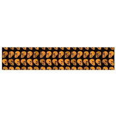 Halloween Color Skull Heads Flano Scarf (small)