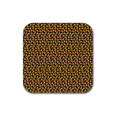 Pattern Halloween Candy Corn   Rubber Coaster (square)