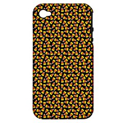 Pattern Halloween Candy Corn   Apple Iphone 4/4s Hardshell Case (pc+silicone)