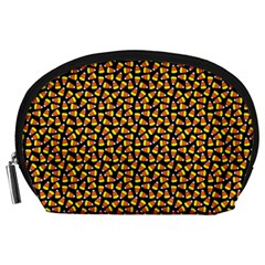 Pattern Halloween Candy Corn   Accessory Pouches (large)