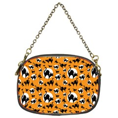 Pattern Halloween Black Cat Hissing Chain Purses (two Sides)