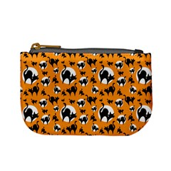 Pattern Halloween Black Cat Hissing Mini Coin Purses