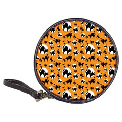 Pattern Halloween Black Cat Hissing Classic 20 Cd Wallets