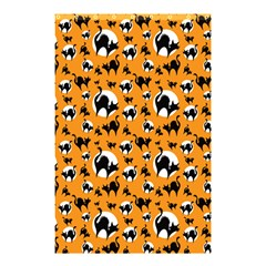 Pattern Halloween Black Cat Hissing Shower Curtain 48  X 72  (small)