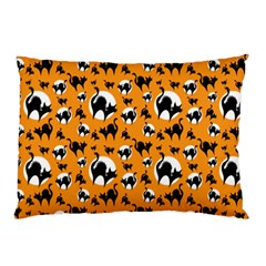 Pattern Halloween Black Cat Hissing Pillow Case (two Sides)
