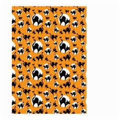 Pattern Halloween Black Cat Hissing Small Garden Flag (two Sides)