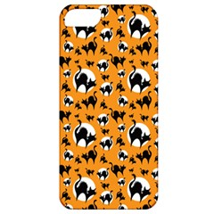 Pattern Halloween Black Cat Hissing Apple Iphone 5 Classic Hardshell Case