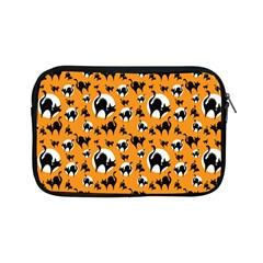 Pattern Halloween Black Cat Hissing Apple Ipad Mini Zipper Cases