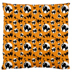 Pattern Halloween Black Cat Hissing Standard Flano Cushion Case (one Side)