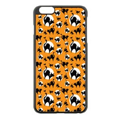 Pattern Halloween Black Cat Hissing Apple Iphone 6 Plus/6s Plus Black Enamel Case