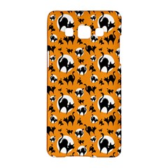 Pattern Halloween Black Cat Hissing Samsung Galaxy A5 Hardshell Case