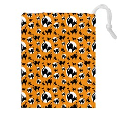 Pattern Halloween Black Cat Hissing Drawstring Pouches (xxl)