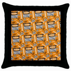 Halloween Thirsty Vampire Signs Throw Pillow Case (black)