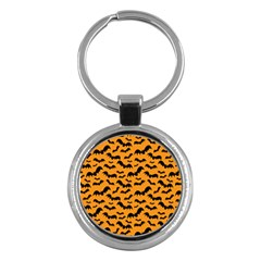 Pattern Halloween Bats  Icreate Key Chains (round)