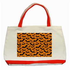 Pattern Halloween Bats  Icreate Classic Tote Bag (red)