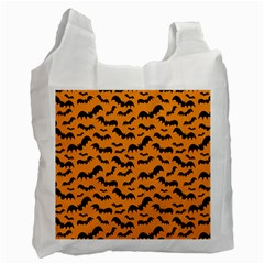 Pattern Halloween Bats  Icreate Recycle Bag (two Side)
