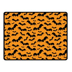 Pattern Halloween Bats  Icreate Double Sided Fleece Blanket (small)