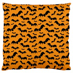 Pattern Halloween Bats  Icreate Large Flano Cushion Case (two Sides)