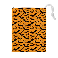 Pattern Halloween Bats  Icreate Drawstring Pouches (extra Large)