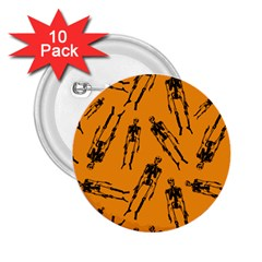 Halloween Skeletons  2 25  Buttons (10 Pack)