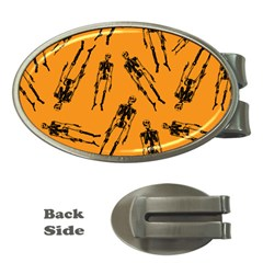 Halloween Skeletons  Money Clips (oval)