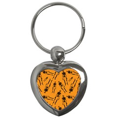 Halloween Skeletons  Key Chains (heart)