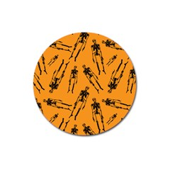 Halloween Skeletons  Magnet 3  (round)