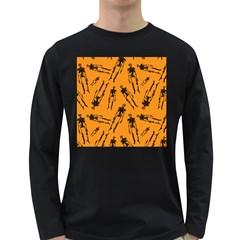 Halloween Skeletons  Long Sleeve Dark T Shirts