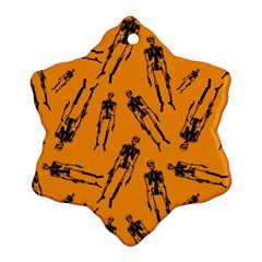 Halloween Skeletons  Snowflake Ornament (two Sides)